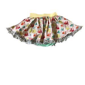 NWOT Matilda Jane Girls Yellow Tent Mini Skirt Size 12M